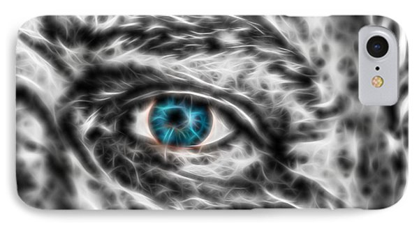 IPhone Case featuring the photograph Abstract Blue Eye by Scott Carruthers