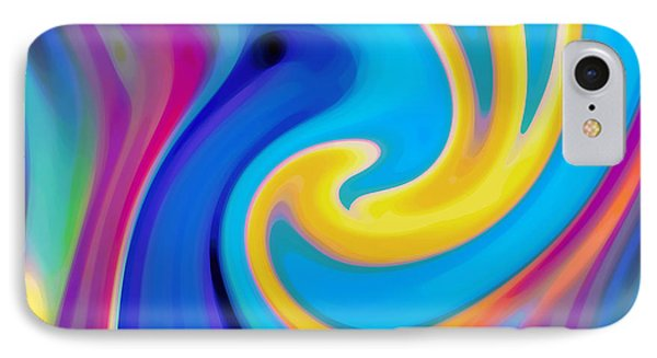 Abstract Blue Flower Blooming IPhone Case by Amy Vangsgard