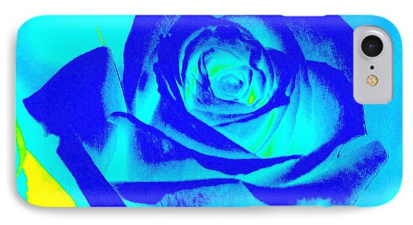 Abstract Blue Rose IPhone Case by Karen J Shine