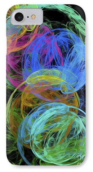 IPhone Case featuring the digital art Abstract Bubbles by Andee Design