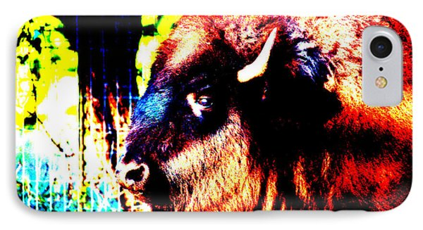 Abstract Buffalo IPhone Case by Lon Casler Bixby