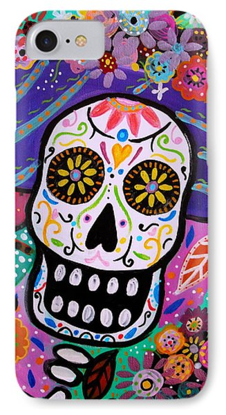 IPhone Case featuring the painting Abstract Catrina by Pristine Cartera Turkus