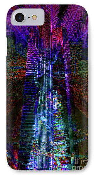 Abstract City In Purple Phone Case by Barbara Dudzinska