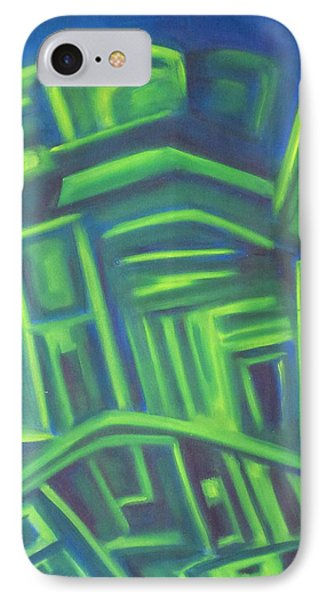 IPhone Case featuring the painting Abstract Cityscape Series IIi by Patricia Cleasby