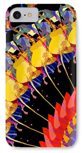 IPhone Case featuring the digital art Abstract Collage Of Colors by Phil Perkins