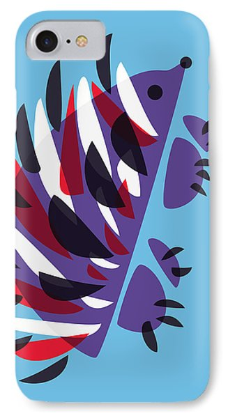 Abstract Colorful Hedgehog IPhone Case