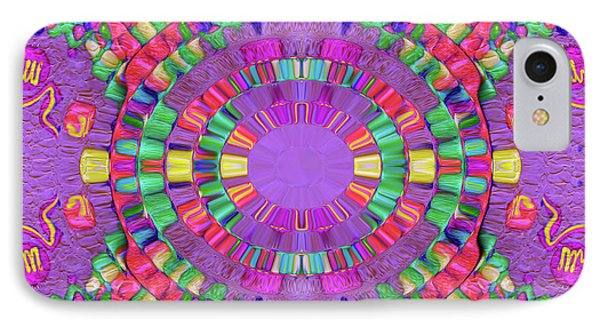 Abstract Cookie #047 IPhone Case by Barbara Tristan