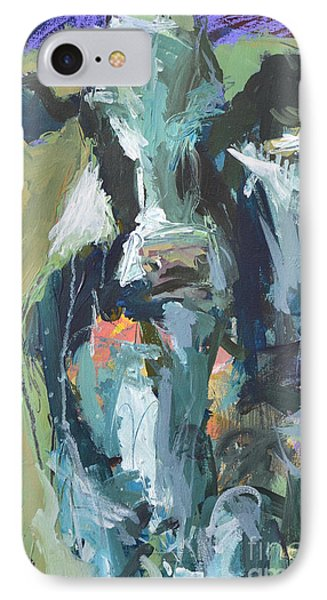 IPhone Case featuring the painting Abstract Cow Painting by Robert Joyner