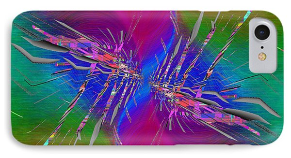 IPhone Case featuring the digital art Abstract Cubed 353 by Tim Allen