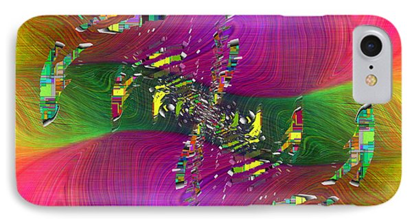 IPhone Case featuring the digital art Abstract Cubed 357 by Tim Allen
