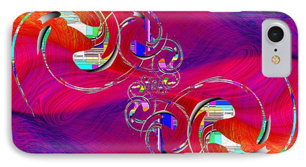IPhone Case featuring the digital art Abstract Cubed 360 by Tim Allen
