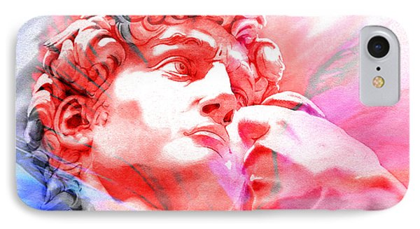IPhone Case featuring the painting Abstract David Michelangelo 1 by J- J- Espinoza