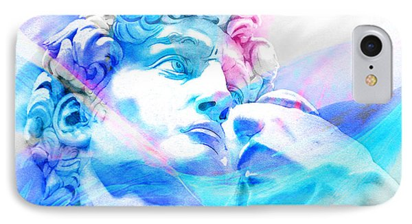 IPhone Case featuring the painting Abstract David Michelangelo 3 by J- J- Espinoza