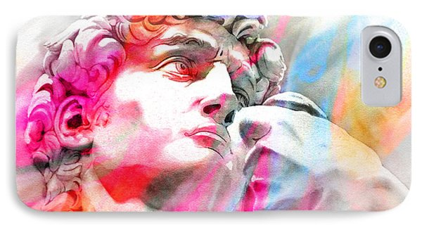 IPhone Case featuring the painting Abstract David Michelangelo 4 by J- J- Espinoza