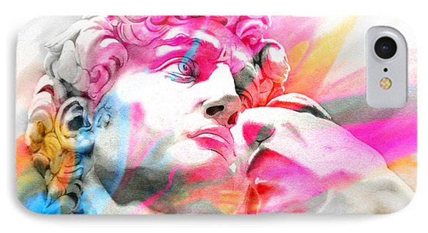 IPhone Case featuring the painting Abstract David Michelangelo 5 by J- J- Espinoza