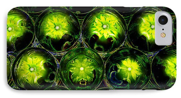 Abstract Digital Art Bubbles Flowers Phone Case by Adriano Pecchio