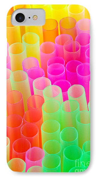 Abstract Drinking Straws Phone Case by Meirion Matthias
