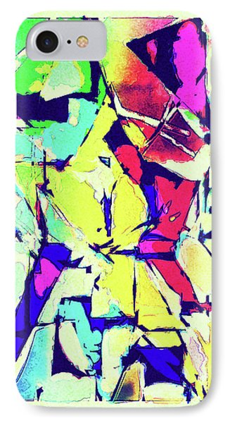 Abstract Explosion IPhone Case by Susan Leggett
