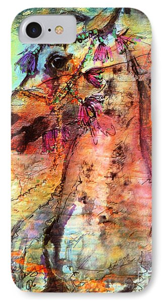 Abstract Expressive Arabian Stallion Art IPhone Case by Ginette Callaway