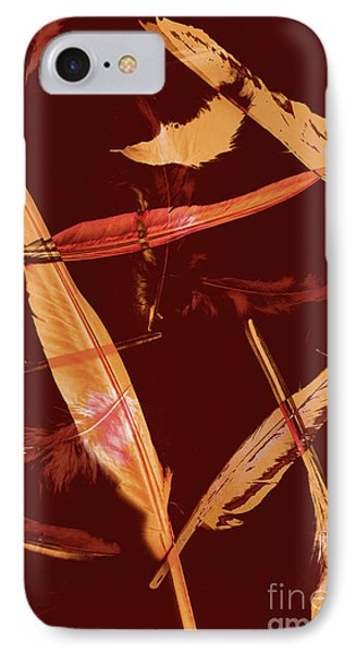 Abstract Feathers Falling On Brown Background IPhone Case by Jorgo Photography - Wall Art Gallery