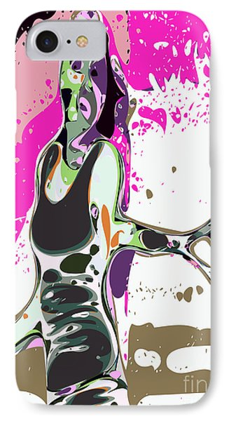 Abstract Female Tennis Player Phone Case by Chris Butler