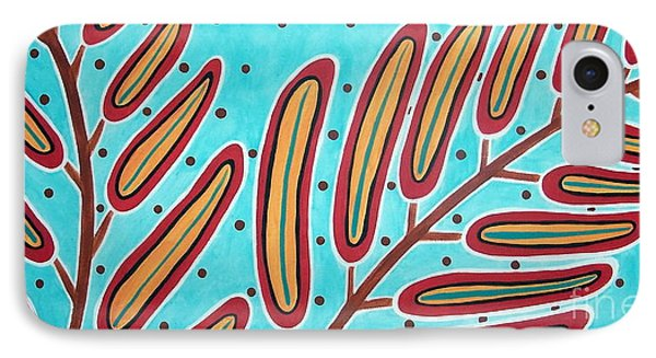 Abstract Ferns Phone Case by Karla Gerard