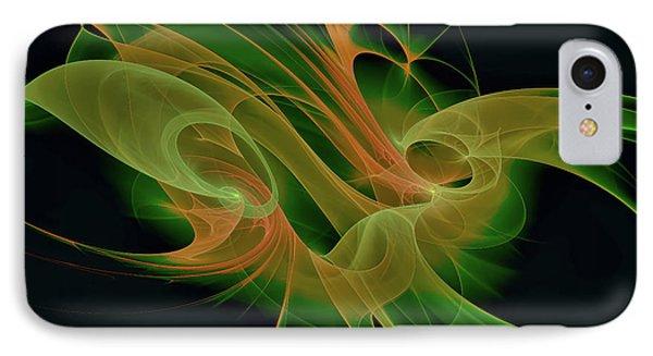 IPhone Case featuring the digital art Abstract Ffz by Deborah Benoit