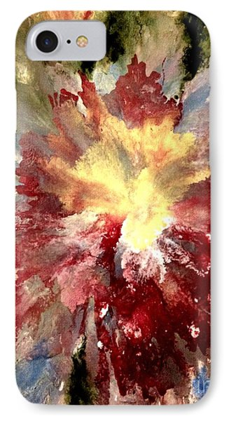 IPhone Case featuring the painting Abstract Flower by Denise Tomasura