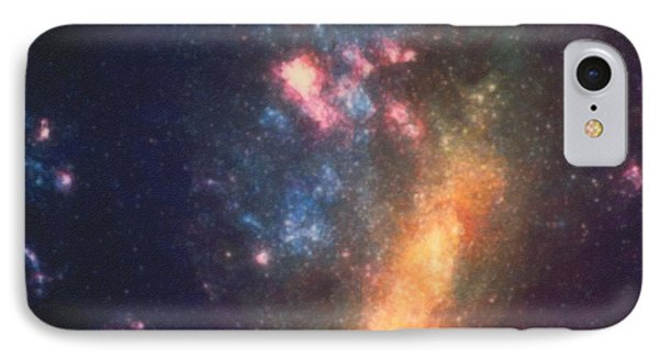 Abstract Galactic Color Of Nebula Cloud IPhone Case by Asar studios