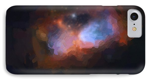 Abstract Galactic Nebula No 1 IPhone Case by Asar Studios