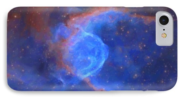 Abstract Galactic Nebula With Cosmic Cloud 10 Xl IPhone Case by Celestial Images