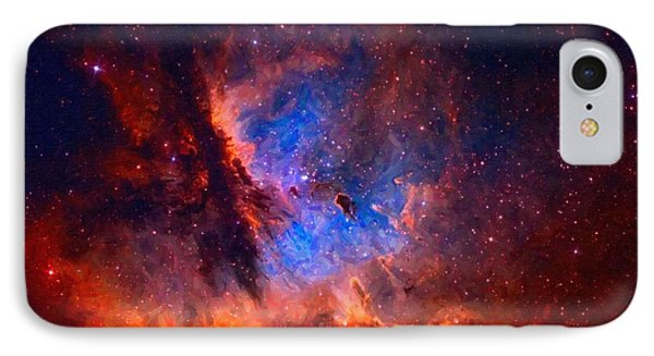 Abstract Galactic Nebula With Cosmic Cloud 2 IPhone Case by Asar Studios