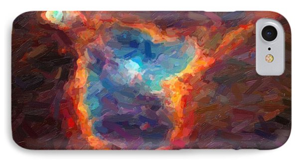 Abstract Galactic Nebula With Cosmic Cloud 4 IPhone Case by Asar Studios