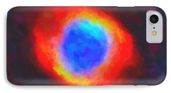 Abstract Galactic Nebula With Cosmic Cloud 9 IPhone Case by Celestial Images