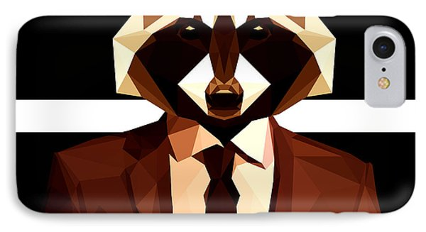 Abstract Geometric Raccoon IPhone Case