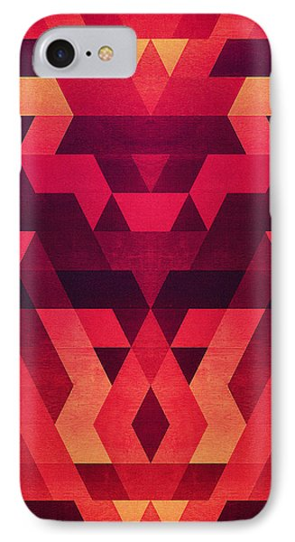 Abstract  Geometric Triangle Texture Pattern Design In Diabolic Future Red IPhone Case by Philipp Rietz