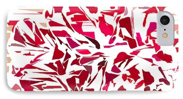 Abstract Geranium IPhone Case by Judi Suni Hall