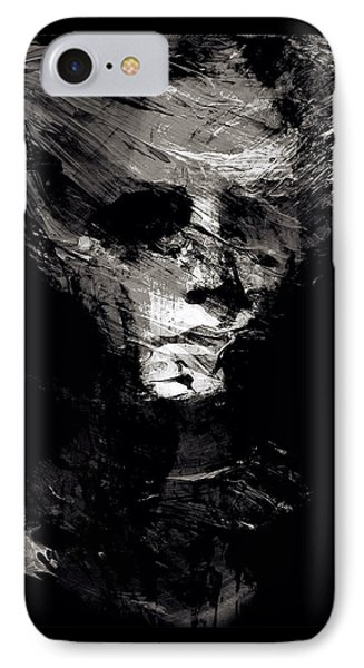 Abstract Ghost Black And White IPhone Case by Marian Voicu