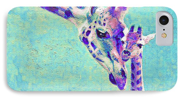 Abstract Giraffes IPhone Case