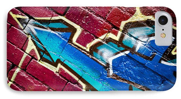 IPhone Case featuring the painting Abstract Graffiti Arrow by Yurix Sardinelly
