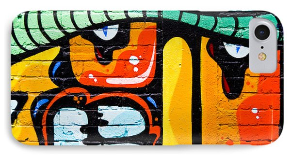 IPhone Case featuring the painting Abstract Graffiti Face by Yurix Sardinelly