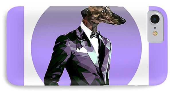Abstract Greyhound 2 IPhone Case