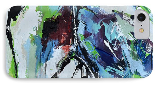 IPhone Case featuring the painting Abstract Horse 18 by Cher Devereaux