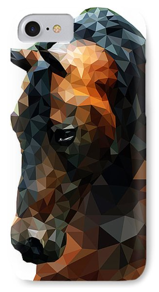Abstract Horse IPhone Case by Gallini Design