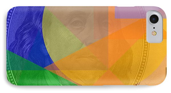 Abstract Hundred Dollar Bill IPhone Case by Dan Sproul