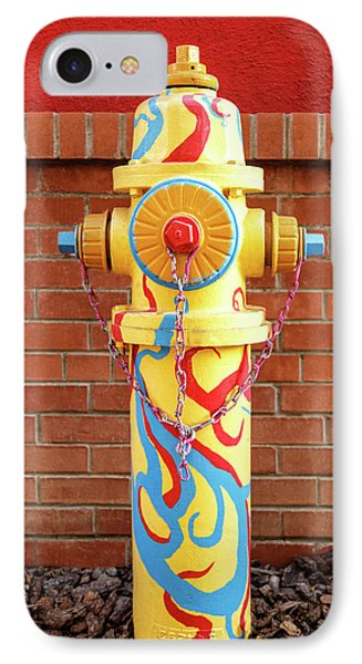 Abstract Hydrant IPhone Case by James Eddy
