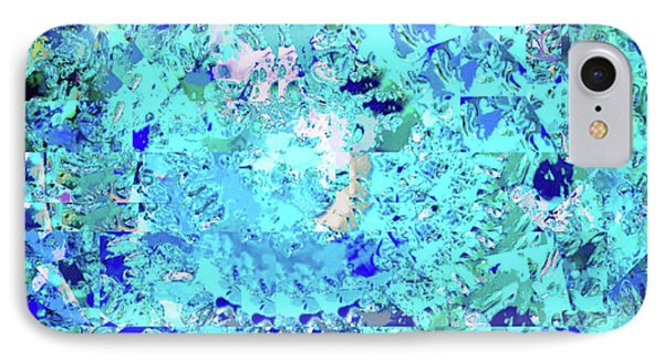 Abstract In Blue No. 56-2 IPhone Case