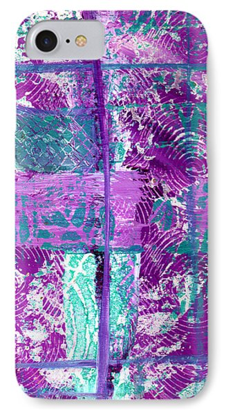 Abstract In Purple And Teal IPhone Case