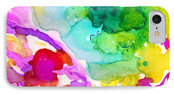 Transcendent Love 1 Abstract Ink Art Colorful Original Artwork IPhone Case by Patricia Awapara