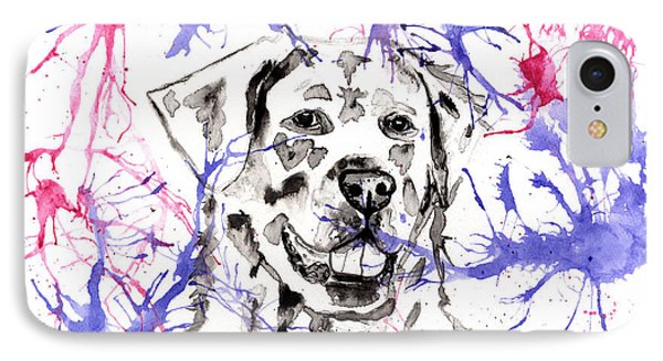 Abstract Ink - Golden Retriever IPhone Case by Michelle Wrighton